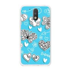 Funda Gel Tpu para Motorola Moto G4 / G4 Plus Diseño Mariposas Dibujos