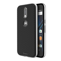 Funda Tipo Neo Hybrid (Pc+Tpu) Negra / Plata para Motorola Moto G4 / G4 Plus