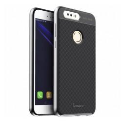 Funda Tipo Neo Hybrid (Pc+Tpu) Negra / Plata para Huawei Honor 8