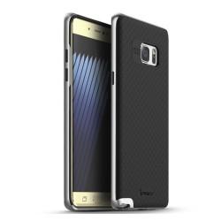Funda Tipo Neo Hybrid (Pc+Tpu) Negra / Plata para Samsung Galaxy Note 7