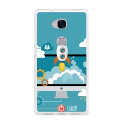 Funda Gel Tpu para Huawei Honor 5X Diseño Cohete Dibujos