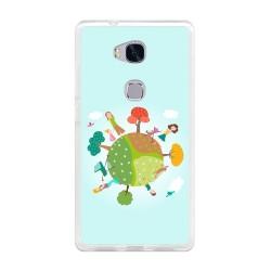 Funda Gel Tpu para Huawei Honor 5X Diseño Familia Dibujos