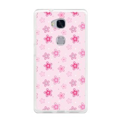 Funda Gel Tpu para Huawei Honor 5X Diseño Flores Dibujos