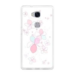 Funda Gel Tpu para Huawei Honor 5X Diseño Flores-Minimal Dibujos