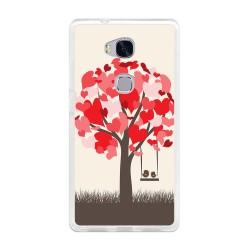 Funda Gel Tpu para Huawei Honor 5X Diseño Pajaritos Dibujos