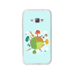 Funda Gel Tpu para Samsung Galaxy J1 (2016) Diseño Familia Dibujos