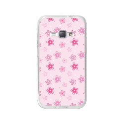 Funda Gel Tpu para Samsung Galaxy J1 (2016) Diseño Flores Dibujos