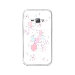 Funda Gel Tpu para Samsung Galaxy J1 (2016) Diseño Flores-Minimal Dibujos