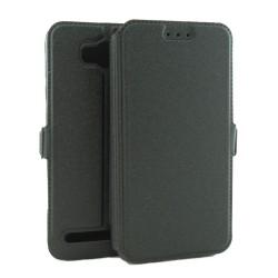 Funda Soporte Piel Negra para Huawei Y3 II  Flip Libro