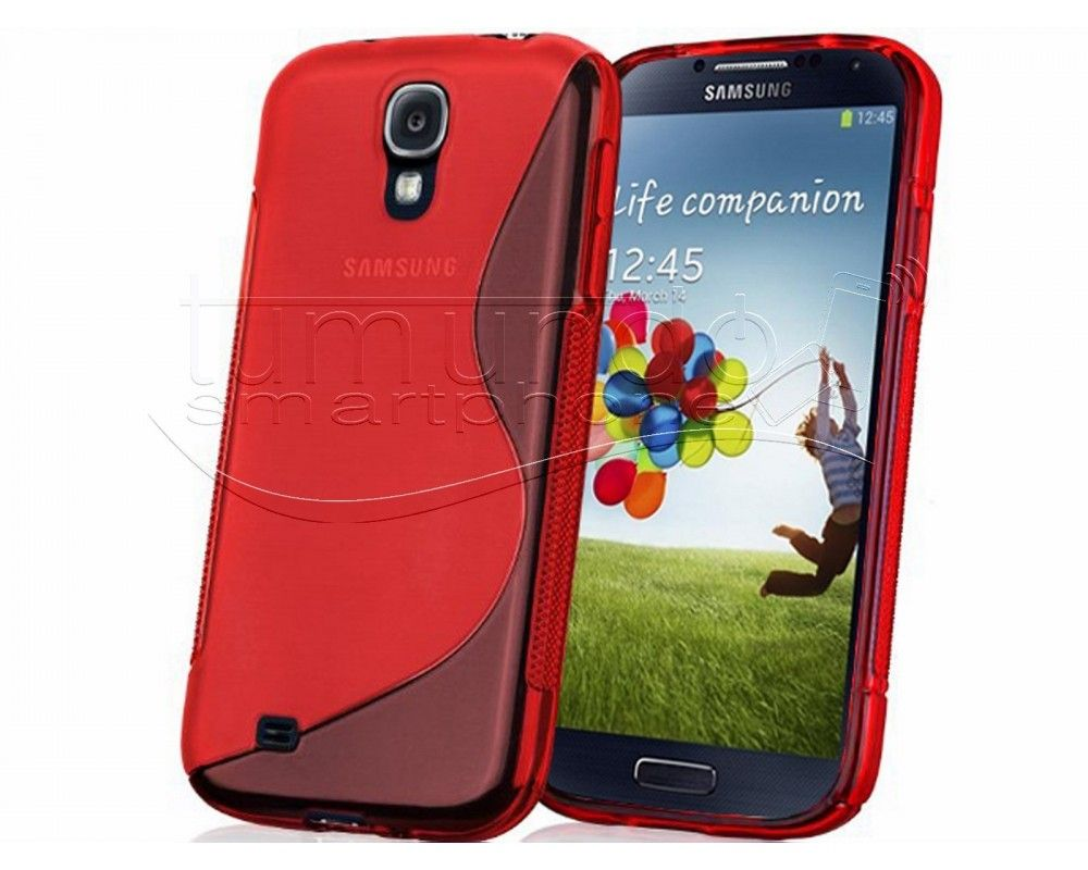 Funda Gel Tpu Samsung Galaxy S4 I9500 S Line Color Roja