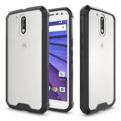 Funda Tipo Air Hybrid (Pc+Tpu) Negra para Motorola Moto G4 / G4 Plus