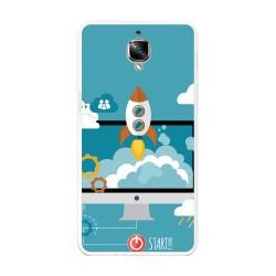 Funda Gel Tpu para Oneplus 3 / 3T Diseño Cohete Dibujos