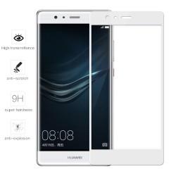 Protector Cristal Templado Frontal Completo Blanco para Huawei P9  Vidrio