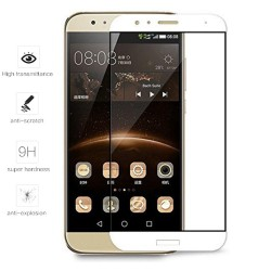 Protector Cristal Templado Frontal Completo Blanco para Huawei G8 / Gx8 Vidrio
