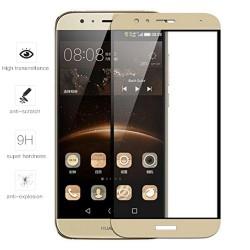 Protector Cristal Templado Frontal Completo Dorado para Huawei G8 /Gx8 Vidrio