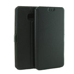 Funda Soporte Piel Negra para Samsung Galaxy Note 7 Flip Libro