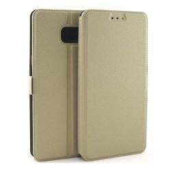 Funda Soporte Piel Dorada para Samsung Galaxy Note 7  Flip Libro