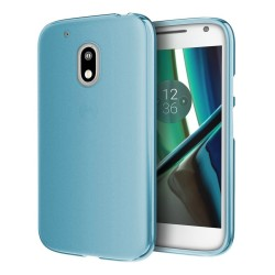 Funda Gel Tpu para Motorola Moto G4 Play Color Azul