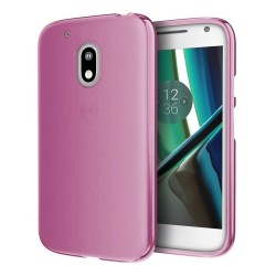 Funda Gel Tpu para Motorola Moto G4 Play Color Rosa