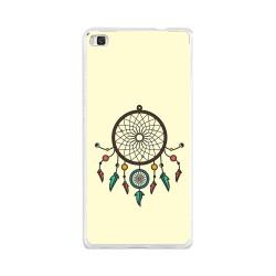 Funda Gel Tpu para Huawei P8 Lite Diseño Atrapasueños Dibujos