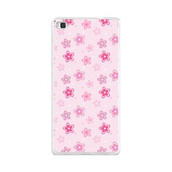 Funda Gel Tpu para Huawei P8 Lite Diseño Flores Dibujos