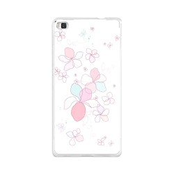 Funda Gel Tpu para Huawei P8 Lite Diseño Flores Minimal Dibujos
