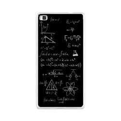 Funda Gel Tpu para Huawei P8 Lite Diseño Formulas Dibujos
