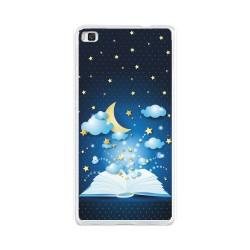 Funda Gel Tpu para Huawei P8 Lite Diseño Libro-Cuentos Dibujos