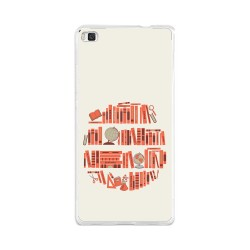 Funda Gel Tpu para Huawei P8 Lite Diseño Mundo-Libro Dibujos