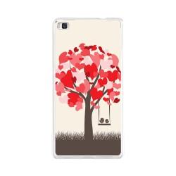 Funda Gel Tpu para Huawei P8 Lite Diseño Pajaritos Dibujos
