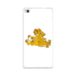 Funda Gel Tpu para Huawei P8 Lite Diseño Leones Dibujos