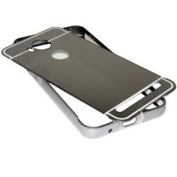 Funda Bumper Gris Aluminio + Tapa Trasera para Huawei Y3 II