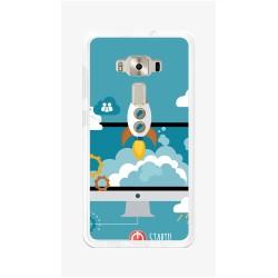 "Funda Gel Tpu para Asus Zenfone 3 5.5"" Ze552Kl Diseño Cohete Dibujos"