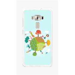 "Funda Gel Tpu para Asus Zenfone 3 5.5"" Ze552Kl Diseño Familia Dibujos"