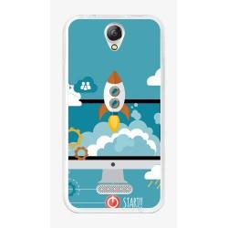 Funda Gel Tpu para Doogee X6S / X6 / X6 Pro Diseño Cohete Dibujos