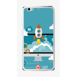 Funda Gel Tpu para Weimei We Plus Diseño Cohete Dibujos