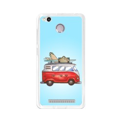 Funda Gel Tpu para Xiaomi Redmi 3S / 3x / 3 Pro Diseño Furgoneta Dibujos