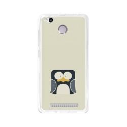 Funda Gel Tpu para Xiaomi Redmi 3S / 3x / 3 Pro Diseño Pingüino Dibujos