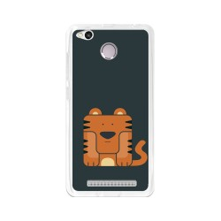 Funda Gel Tpu para Xiaomi Redmi 3S / 3x / 3 Pro Diseño Tigre Dibujos