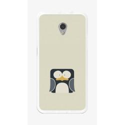 Funda Gel Tpu para Zte Blade V7 Diseño Pingüino Dibujos
