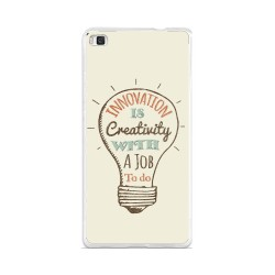Funda Gel Tpu para Huawei P8 Lite Diseño Creativity Dibujos