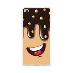 Funda Gel Tpu para Huawei P8 Lite Diseño Helado Chocolate Dibujos
