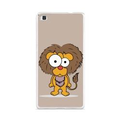 Funda Gel Tpu para Huawei P8 Lite Diseño Leon Dibujos