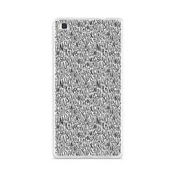 Funda Gel Tpu para Huawei P8 Lite Diseño Letras Dibujos