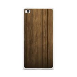 Funda Gel Tpu para Huawei P8 Lite Diseño Madera Dibujos