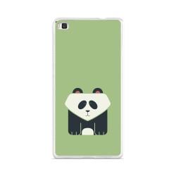 Funda Gel Tpu para Huawei P8 Lite Diseño Panda Dibujos