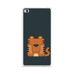 Funda Gel Tpu para Huawei P8 Lite Diseño Tigre Dibujos