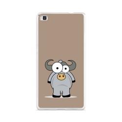 Funda Gel Tpu para Huawei P8 Lite Diseño Toro Dibujos