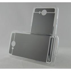 Funda Gel Tpu Efecto Espejo Gris para Huawei Y3 II