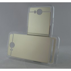 Funda Gel Tpu Efecto Espejo Dorada para Huawei Y3 II